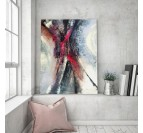 Living room wall decoration with our abstract snowflake canvas