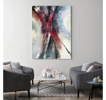 Modern abstract canvas for a design wall decoration