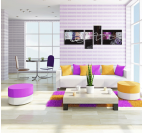 Abstract Purple Curve contemporary painting