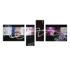 Abstract Purple Curve Tableau Contemporain