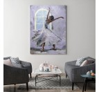 Modern dance contemporary canvas with grey colors