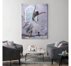 Tableau moderne d'une danseuse classique pour une décoration murale de salon