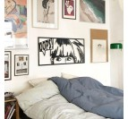 Décoration murale chambre à coucher métal pour un mur totalement unique