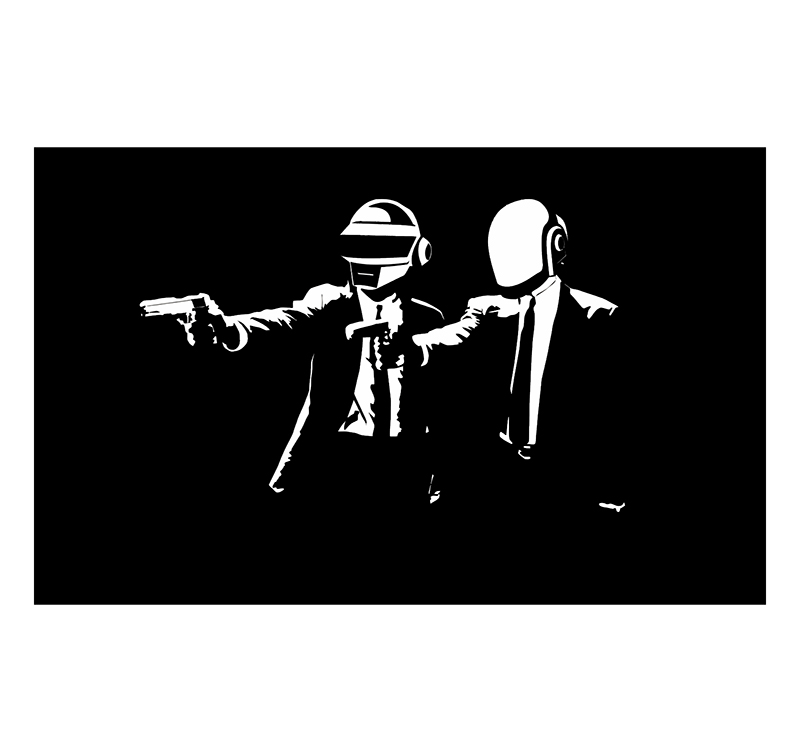 Tableau tendance daft punk guns for Daft punk mural
