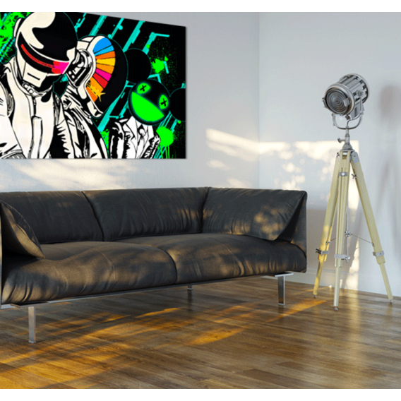 Daft punk deadmau5 tableau design for Daft punk mural