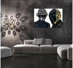 Gold And Silver Daft Punk DJ Art Print