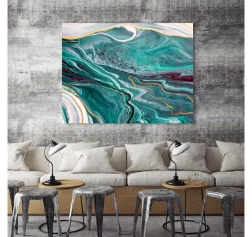 Tableau abstrait en marbre pour une décoration murale de salon design et moderne