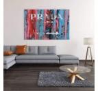 Décoration murale de salon avec notre tableau pop art prada