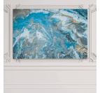 Blue abstract wall canvas print for a unique and design interior decoration