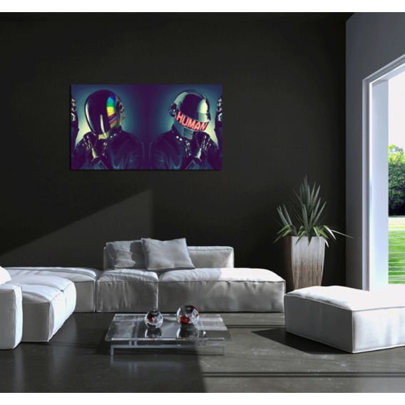 daft punk human robots tableau tendance. Black Bedroom Furniture Sets. Home Design Ideas