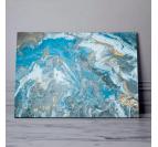 Tableau abstrait ciel bleu avec plusieurs couleurs pour créer une déco murale tendance