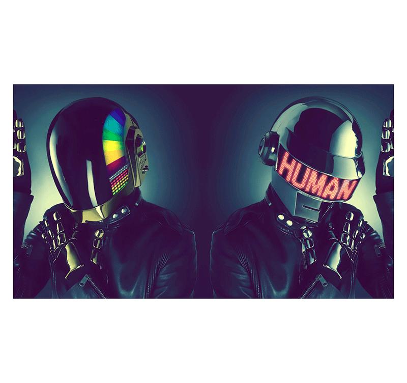 Daft punk human robots tableau tendance for Daft punk mural