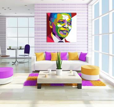 Tableau Personnage Nelson Mandela