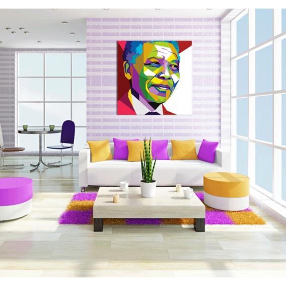Nelson Mandela people art print
