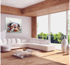 Colorful Dog Contemporary Painting