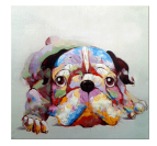 Colorful Dog Tableau Contemporain