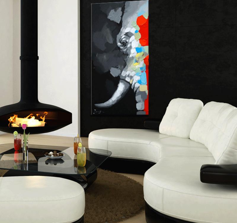 ivory elephant tableau peinture. Black Bedroom Furniture Sets. Home Design Ideas