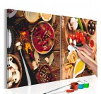 Spices painting by number for your wall decoration