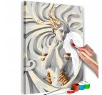 Medusa painting by number for a white wall decoration