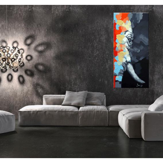 Eye of The Elephant Modern Painting