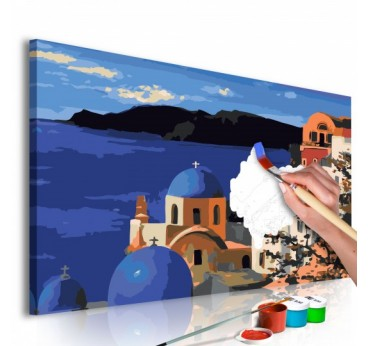 Santorini painting by number for your wall decoration