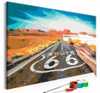 66 road painting by number for your wall decoration
