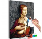 Frame to paint yourself of a well-known portrait for your wall decoration