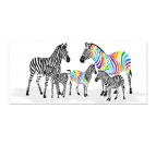 Colorful Zebra Family Tableau Animaux