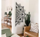 Boho metal wall decoration in a trendy living room