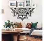 Décoration murale métal Sutra d'inspiration mandala dans un salon moderne