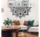 Sutra metal wall decoration for a modern interior