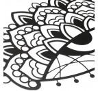 Décoration murale en métal noir de notre pièce ajna issue des célèbres mantras