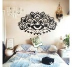 Ajna metal wall decoration in a bedroom for a modern interior