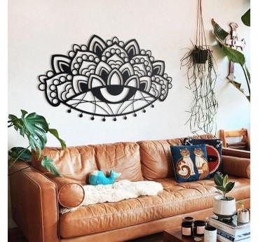 Décoration murale métal Ajna pour créer un intérieur au style industriel avec ce mantra