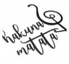 déco murale métal hakunana matata avec sa clé de sol noire