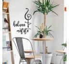 Hakuna matata metal design decoration in a living room art
