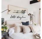 Décoration murale métal design stay home pour une chambre design