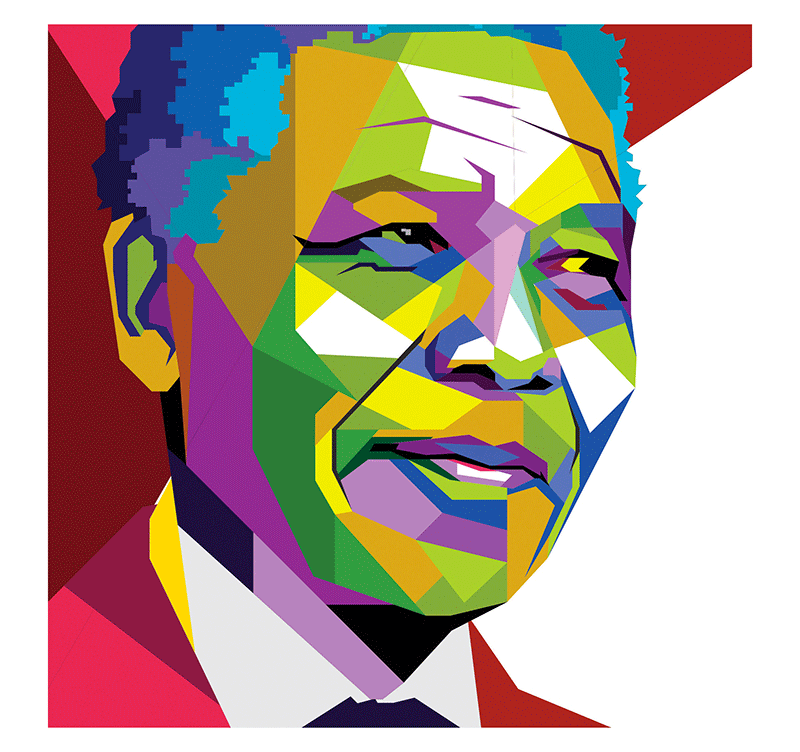 tableau personnage nelson mandela. Black Bedroom Furniture Sets. Home Design Ideas