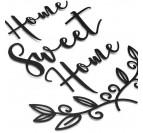 Décoration murale métal moderne home sweet home