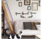 Décoration murale métallique home sweet home pour un intérieur tendance