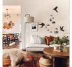Metal wall decoration of our birds in a modern and contemporary living room