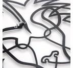 Système d'accroche de notre décoration murale métallique lion pour votre intérieur