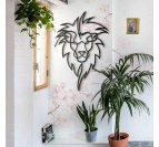 Lion metal wall decoration in a design way for a modern living room