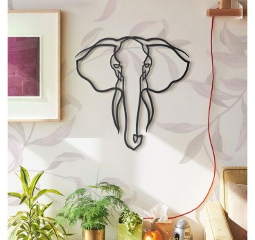 Décoration murale métallique éléphant dans une version design pour votre décoration intérieure