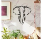 Elephant metallic wall decoration in a design version for your interior decoration