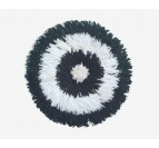 black and white juju hat for a trendy and modern interior decoration