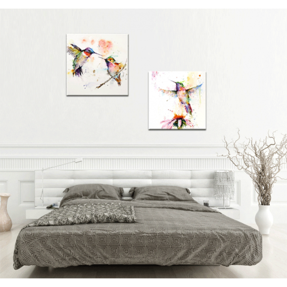 Flying Birds Color Modern Art Print