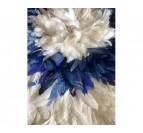 Plume de notre juju hat bleu et blanc