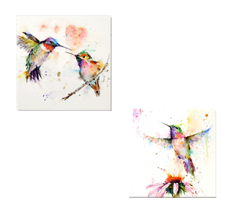 Flying birds color tableau moderne - Tableaux modernes colores ...