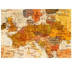 Details of our antique world map canvas print for a trendy interior decoration